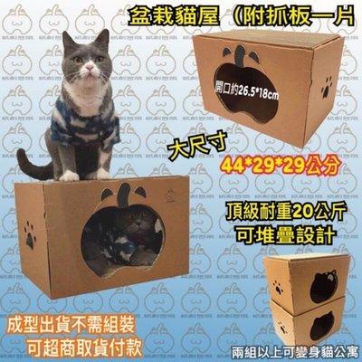 貓抓板 貓用品 貓窩 貓屋 T型貓屋含抓板1片$399 紙創無限賣場消費額滿$999郵局免運費
