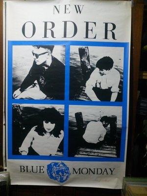 New Order 新秩序自信的步伐 Blue Monday 巨幅海報 155X101.5cm 全新無張貼