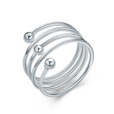 925純銀戒指 銀飾-時尚彈簧生日母親節禮物女飾品73an90[獨家進口][米蘭精品]