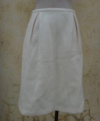 jacob00765100 ~ 全新 正品 la chambre d'ine i.n.e 白色毛料 及膝裙 size: