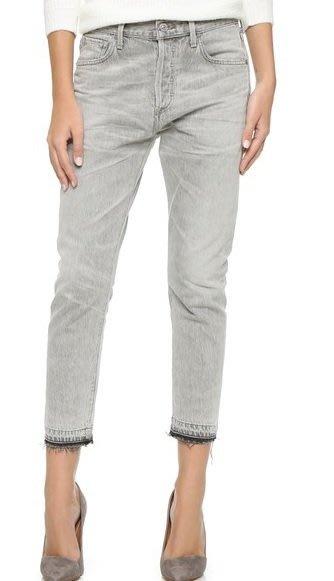 ◎美國代買◎Citizens of Humanity Corey Crop Jeans高腰大腿不貼合不包邊褲管七分牛仔褲