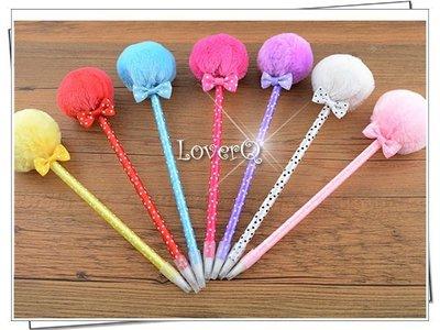 樂芙 韓風毛球造型原子筆 * 婚禮小物 毛球筆 二次進場 造型筆 文具 紀念品 情人節禮品 公司禮品 工商贈品