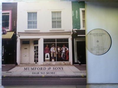 英國民謠搖滾 Mumford & Sons 2009年成功首張 Sigh No More專輯黑膠唱片。蝴蝶頁 全歌詞