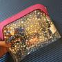 看到透明包包就抓狂 英國專櫃 透明星星 化妝包 盥洗包 旅行過夜包 包中包(SBH38/39)