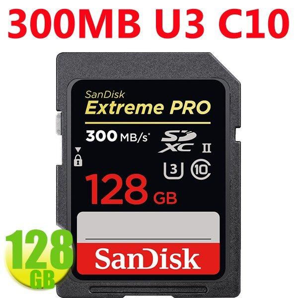SanDisk 128GB 記憶卡 SDXC【300MB/s】Extreme Pro UII U3 4K SD 極速