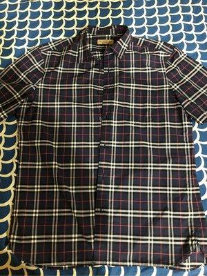 Burberry短袖格紋棉質襯衫