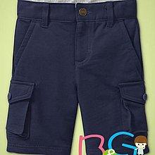 【B& G童裝】正品美國進口GAP Knit cargo shorts 雙側口袋藍色短褲2,3yrs
