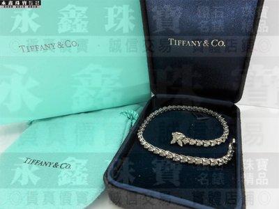 Tiffany&Co. 蒂芬妮 Victoria 鑽石手鍊 總重3.08ct PT950 n0254-04