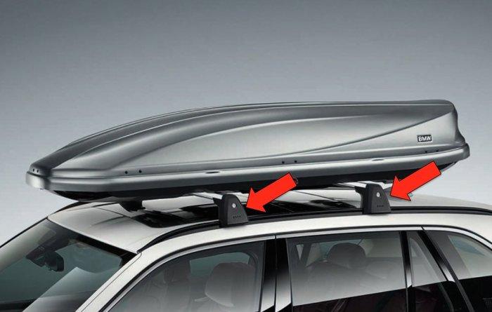 【樂駒】BMW 原廠 生活 車用 精品 露營 親子 活動 F15 X5 車頂架 橫桿 行李架 固定座