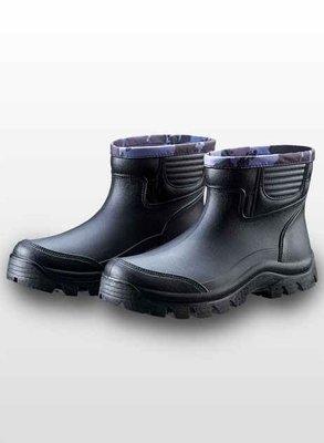 【登山雨鞋】短筒雨鞋 多功能短筒休閒雨鞋-皇力牌 仿皮紋設計(加厚型)【同同大賣場 】