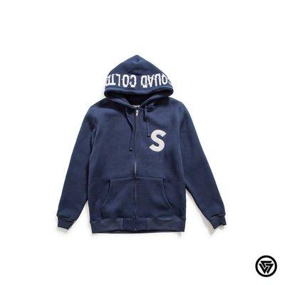 (MARVELOUS) 2016 A/W SQUAD 晃動電繡帽拉  Jacket 3M 反光 藍色