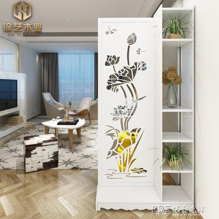 客廳玄關隔斷屏風隔斷行動屏風摺屏雕花鏤空隔斷歐式簡約現代摺疊igo