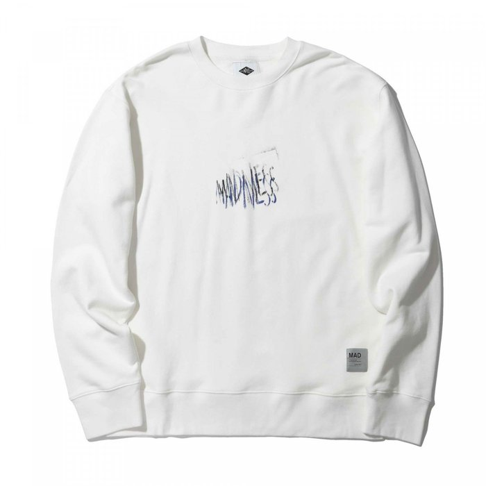 ☆AirRoom☆【現貨】MADNESS OVERLAP LOGO STAMP PRINT SWEATER 大學T