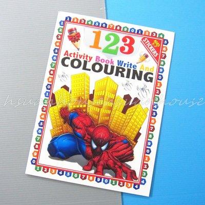 蜘蛛人 123 書寫 練習本 練習冊 著色本 畫冊 塗鴨本 (內附貼紙)
