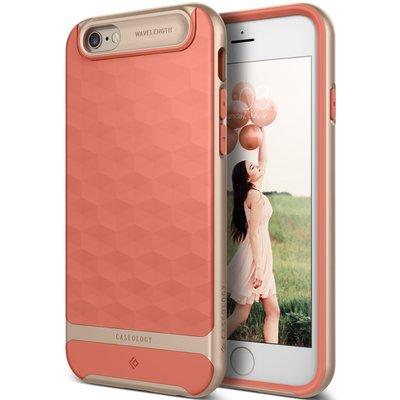 全新 Caseology PARALLAX iPhone 6 6S 時尚 菱格紋 雙層 手機殼 矽膠 保護套 粉紅