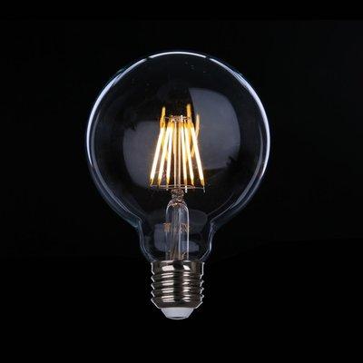 DL燈泡博士💡 G95愛迪生LED燈泡6W復古E27全電壓周光輕工業風黃光暖白光仿鎢絲桌燈泡小夜燈壁燈吊燈設計師指定款