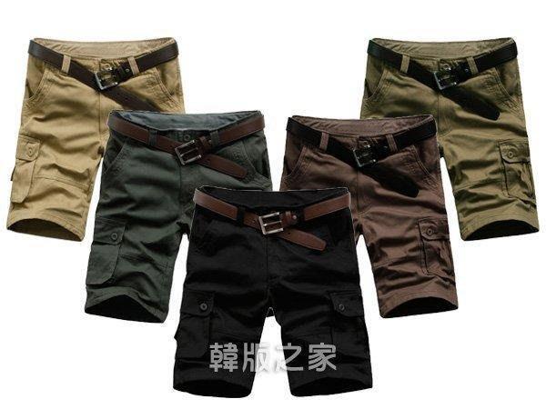 韓版時尚多口袋工作休閒多色短褲 C125原價490特價350