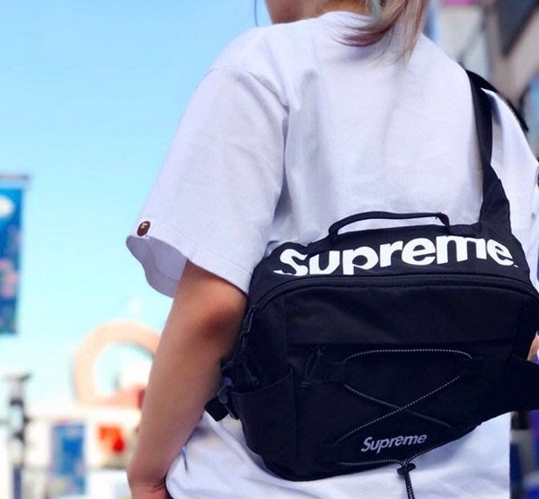 supreme包斜挎包腰包17ss 42th Waist Bag 大logo 錢包單肩胸包
