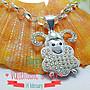兒童寶寶羊年項鍊/ 925純銀項鍊+鑲鑚羊年墬飾...