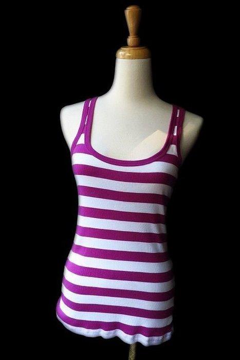 *Beauty*GAP紫白條紋棉背心XS號350元IR