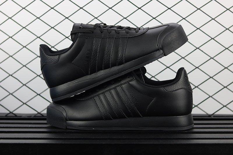 Adidas Originals Samoa 全黑 三葉草時尚休閑鞋 AQ7917