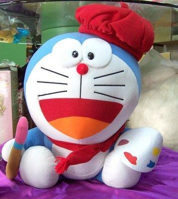 全新~Doraemon 多啦a夢 小叮噹 多拉a夢絨毛玩具、絨毛玩偶(紅帽