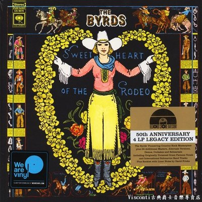 ©【Columbia】The Byrds:Sweetheart Of The Rodeo伯茲合唱團:牛仔情人(四張黑膠)