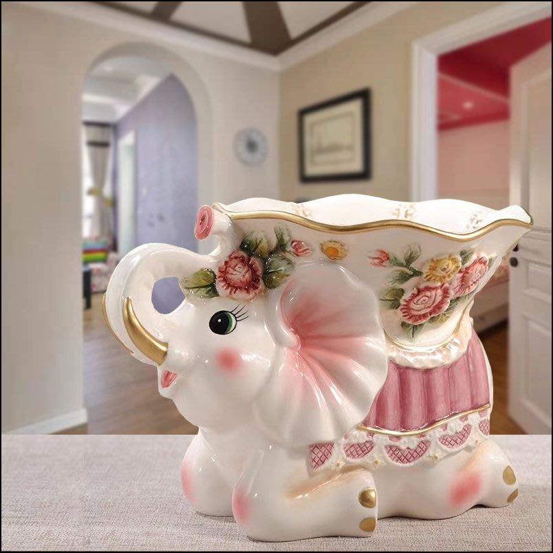 維多利亞風 白色玫瑰花大象糖果盒糖果盤 浪漫蕾絲風花卉寶石陶瓷置物碗點心盤收納盤喜糖盤 結婚入厝禮品【歐舍傢居】