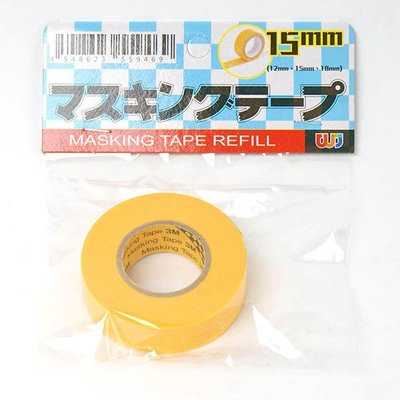 台灣製造 塑膠模型專用 和紙膠帶 15mm*18m