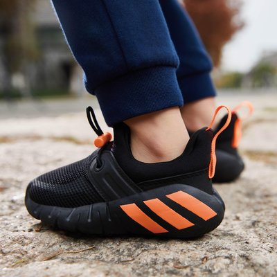 【豬豬老闆】ADIDAS RAPIDAZEN 黑橘 襪套式 網布 反光 休閒 運動 慢跑 訓練 小童 FX2699