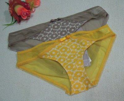 《華歌爾~Salute》~莎露 蕾絲繡花內褲【HS2049】~M,L~深膚色,金黃色~網紗褲