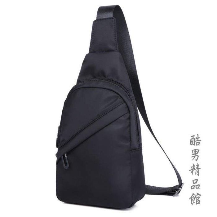 Yeemuu/耶牧男士帆布胸包尼龍防水單肩包韓版休閒小包單跨背包潮 【免運】