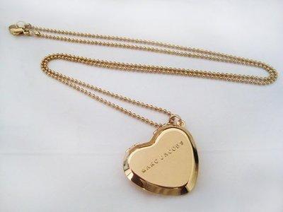 ☆青兒小公主☆MARC JACOBS Heart Mirror necklace 金色愛心兩面鏡 項鍊
