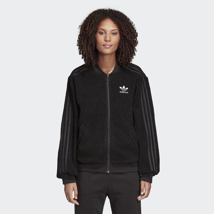 沃皮斯§Adidas Originals 三葉草 毛茸茸外套 雙面穿 變形蟲 女款 DY0872