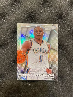 2014-15 Prizm Russell Westbrook #2 Photo Variation Silver Refractor Thunder