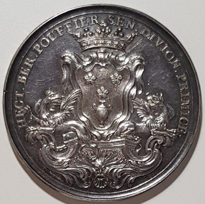 法國銀章 1740 France Louis XV Academic de Dijon Silver Medal