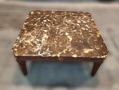 樂居二手家具 便宜2手傢俱拍賣 A0323EJJC 歐式大理石茶几 客廳沙發桌 矮桌 泡茶桌*全新中古家具賣場