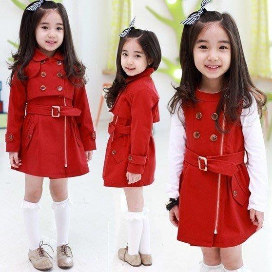 韓版《氣質女孩款》外套+洋裝~甜美小套裝 (L1-1)