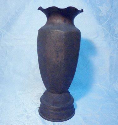 黑色小館A13~~~~~銅器~~砲彈花瓶~~105榴炮M14戰車1945年