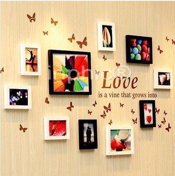 INPHIC-框畫10框實木照片牆創意牆貼照片框組合家居裝飾相框