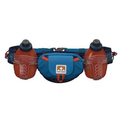 【山野賣客】Nathan Tral Mix Plus (600ml)雙水壺腰包(藍/橘) 慢跑 長跑 半馬 長馬 馬拉松