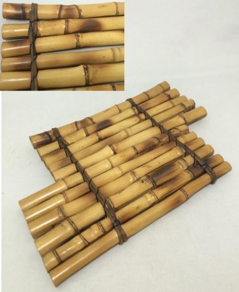 日本時代竹製品  斑竹 敷板 花台 筏 煎茶道具 華道具