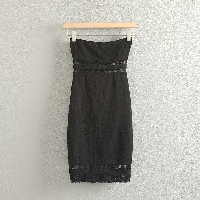 ☆°╮VS流行館╭°☆美國進口時尚名牌TALLY WEiJL保証正品 ◎優雅裸肩蕾絲洋裝小禮服(32/34/38號)
