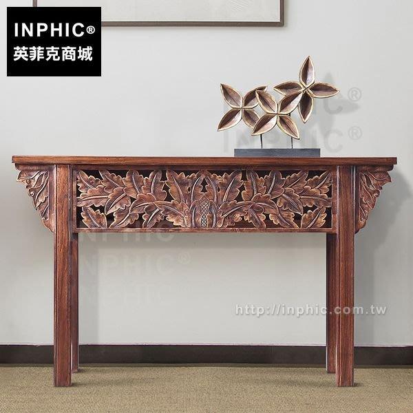 INPHIC-傢俱木雕刻玄關泰式會所東南亞供桌案台客廳供台_FMG3
