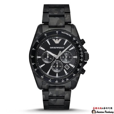 美國大媽代購 EMPORIO ARMANI  AR11027 時尚精品 迷彩三眼計時腕錶  男錶女錶  歐美代購