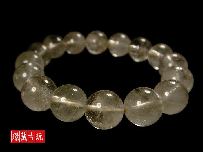 ﹣﹦≡|璟藏古玩|天然白水晶12mm手串/手鍊∥(直購價,不設底價,只給第一標)∥≡﹦﹣