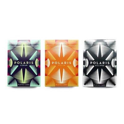 【USPCC撲克牌】Polaris PLAYING CARDS lunar藍色/solar橘色/eclipse黑色