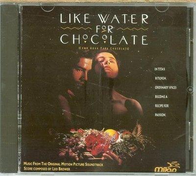 """""""巧克力情人(Like Water for Chocolate)""""- Leo Brower,美版,L44-1"""