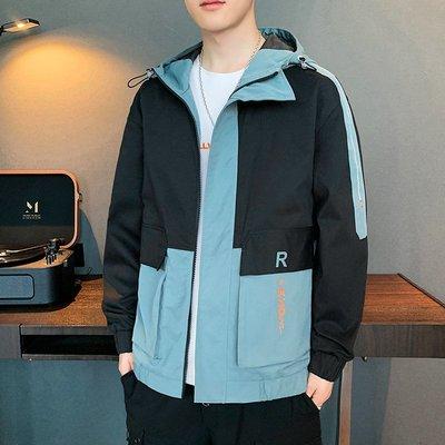 男防風外套夾克男2020秋季新款帥氣青少年運動休閑上裝潮牌韓版男士夾克外套風衣