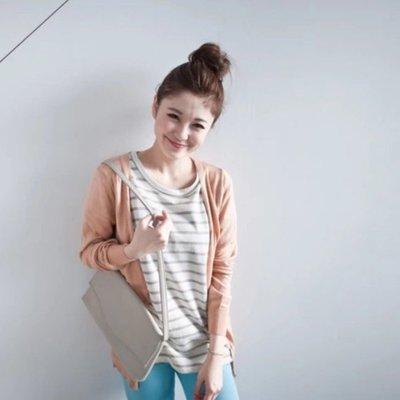 針織罩衫外套 杏粉色 灰色 黑色  全新
